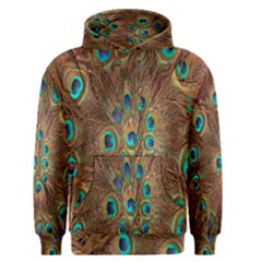 Peacock Pattern Background Men s Pullover Hoodie