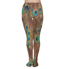 Peacock Pattern Background Women s Tights
