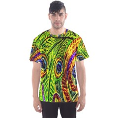 Glass Tile Peacock Feathers Men s Sport Mesh Tee