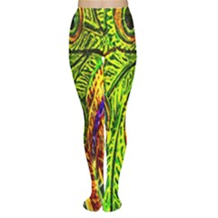 Glass Tile Peacock Feathers Women s Tights