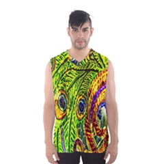 Glass Tile Peacock Feathers Men s Basketball Tank Top