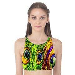 Glass Tile Peacock Feathers Tank Bikini Top