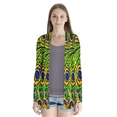 Glass Tile Peacock Feathers Cardigans