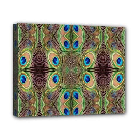 Beautiful Peacock Feathers Seamless Abstract Wallpaper Background Canvas 10  x 8