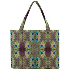 Beautiful Peacock Feathers Seamless Abstract Wallpaper Background Mini Tote Bag