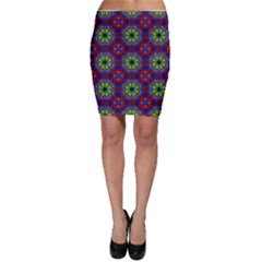 Abstract Pattern Wallpaper Bodycon Skirt