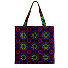 Abstract Pattern Wallpaper Zipper Grocery Tote Bag