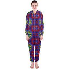 Abstract Pattern Wallpaper Hooded Jumpsuit (Ladies)