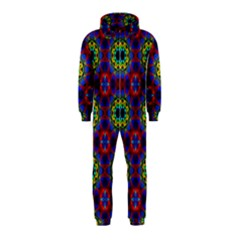 Abstract Pattern Wallpaper Hooded Jumpsuit (kids)