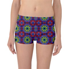 Abstract Pattern Wallpaper Reversible Bikini Bottoms