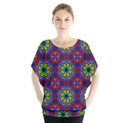Abstract Pattern Wallpaper Blouse