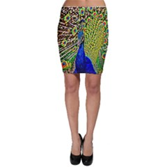 Graphic Painting Of A Peacock Bodycon Skirt