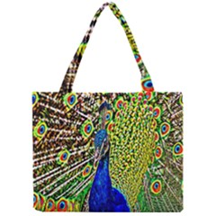 Graphic Painting Of A Peacock Mini Tote Bag