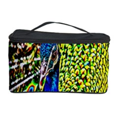 Graphic Painting Of A Peacock Cosmetic Storage Case
