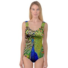Graphic Painting Of A Peacock Princess Tank Leotard