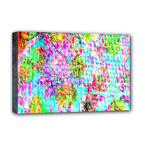 Bright Rainbow Background Deluxe Canvas 18  x 12