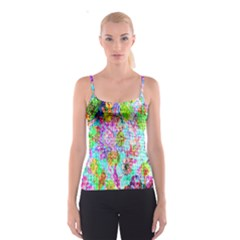 Bright Rainbow Background Spaghetti Strap Top