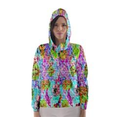 Bright Rainbow Background Hooded Wind Breaker (Women)