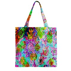 Bright Rainbow Background Zipper Grocery Tote Bag