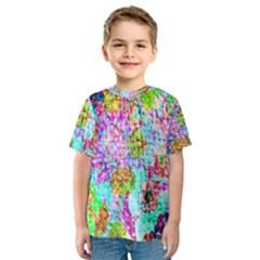 Bright Rainbow Background Kids  Sport Mesh Tee