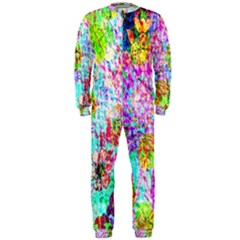 Bright Rainbow Background OnePiece Jumpsuit (Men)