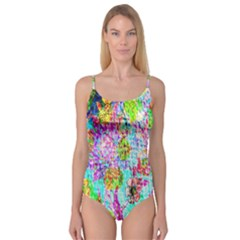 Bright Rainbow Background Camisole Leotard