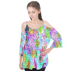 Bright Rainbow Background Flutter Tees