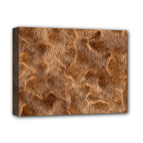 Brown Seamless Animal Fur Pattern Deluxe Canvas 16  x 12