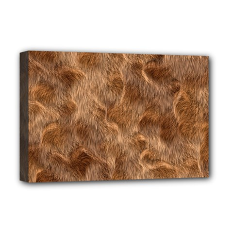 Brown Seamless Animal Fur Pattern Deluxe Canvas 18  x 12