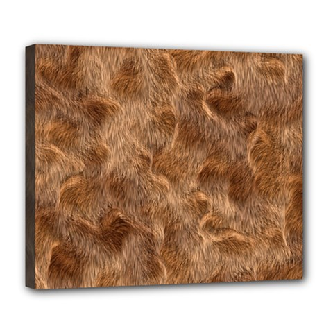 Brown Seamless Animal Fur Pattern Deluxe Canvas 24  x 20