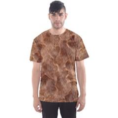 Brown Seamless Animal Fur Pattern Men s Sport Mesh Tee