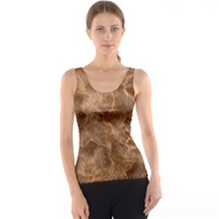 Brown Seamless Animal Fur Pattern Tank Top