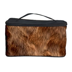 Brown Seamless Animal Fur Pattern Cosmetic Storage Case
