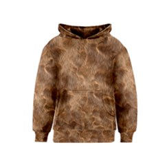 Brown Seamless Animal Fur Pattern Kids  Pullover Hoodie