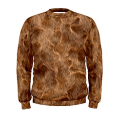 Brown Seamless Animal Fur Pattern Men s Sweatshirt