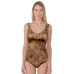 Brown Seamless Animal Fur Pattern Princess Tank Leotard