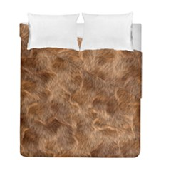 Brown Seamless Animal Fur Pattern Duvet Cover Double Side (full/ Double Size)