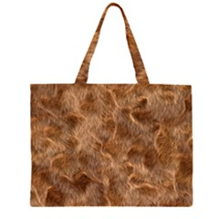 Brown Seamless Animal Fur Pattern Large Tote Bag
