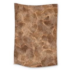Brown Seamless Animal Fur Pattern Large Tapestry