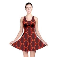 Snake Abstract Pattern Reversible Skater Dress