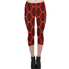 Snake Abstract Pattern Capri Leggings