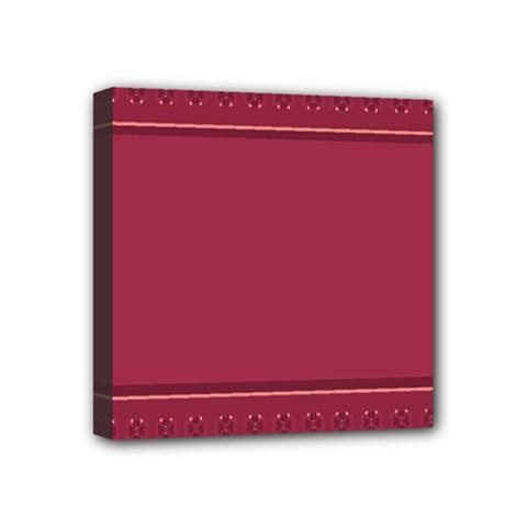 Heart Pattern Background In Dark Pink Mini Canvas 4  X 4