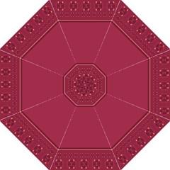 Heart Pattern Background In Dark Pink Golf Umbrellas