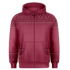 Heart Pattern Background In Dark Pink Men s Zipper Hoodie