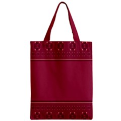 Heart Pattern Background In Dark Pink Zipper Classic Tote Bag