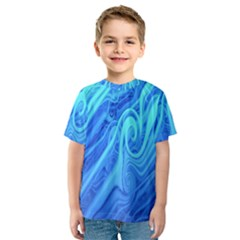 Vintage Pattern Background Wallpaper Kids  Sport Mesh Tee