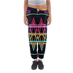 Drawing Of A Color Mandala On Black Women s Jogger Sweatpants
