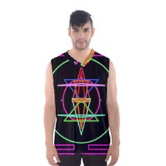 Drawing Of A Color Mandala On Black Men s Basketball Tank Top