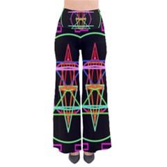 Drawing Of A Color Mandala On Black Pants