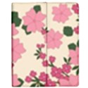 Vintage Floral Wallpaper Background In Shades Of Pink Apple iPad 2 Flip Case View1